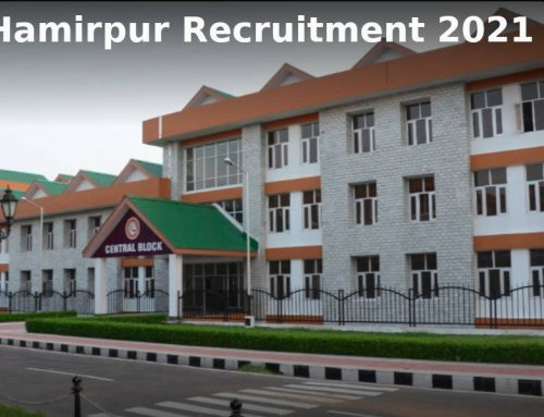 NIT Hamirpur Recruitment 2021 for the post of Temporary Faculty in various departments.