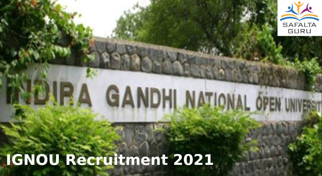 IGNOU vacancy for the Post of Field Investigator