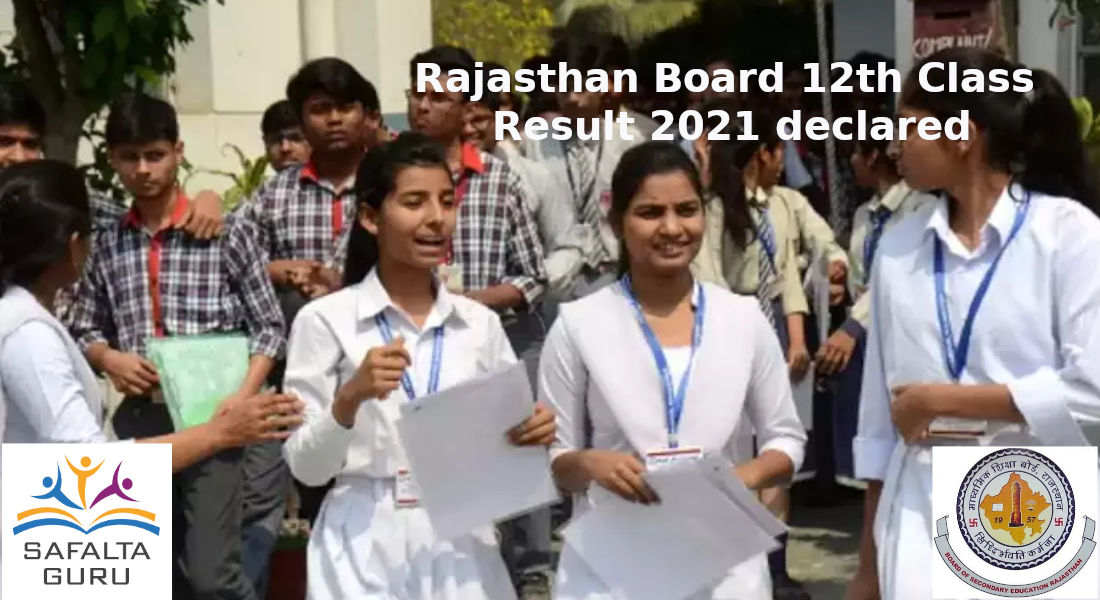 Rajasthan Board declared class 12th result 2021, check out details here