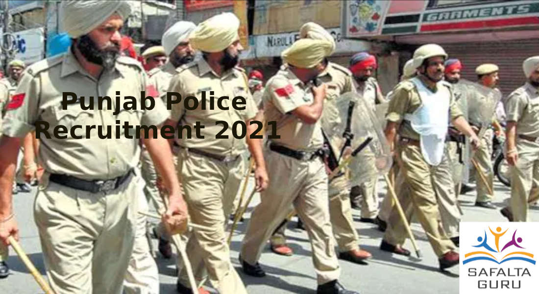 Punjab Police Recruitment 2021 to post of Head Constable in investigation cadre department